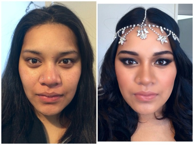 jumeewardlawmakeupartist — before and after bridal makeup my