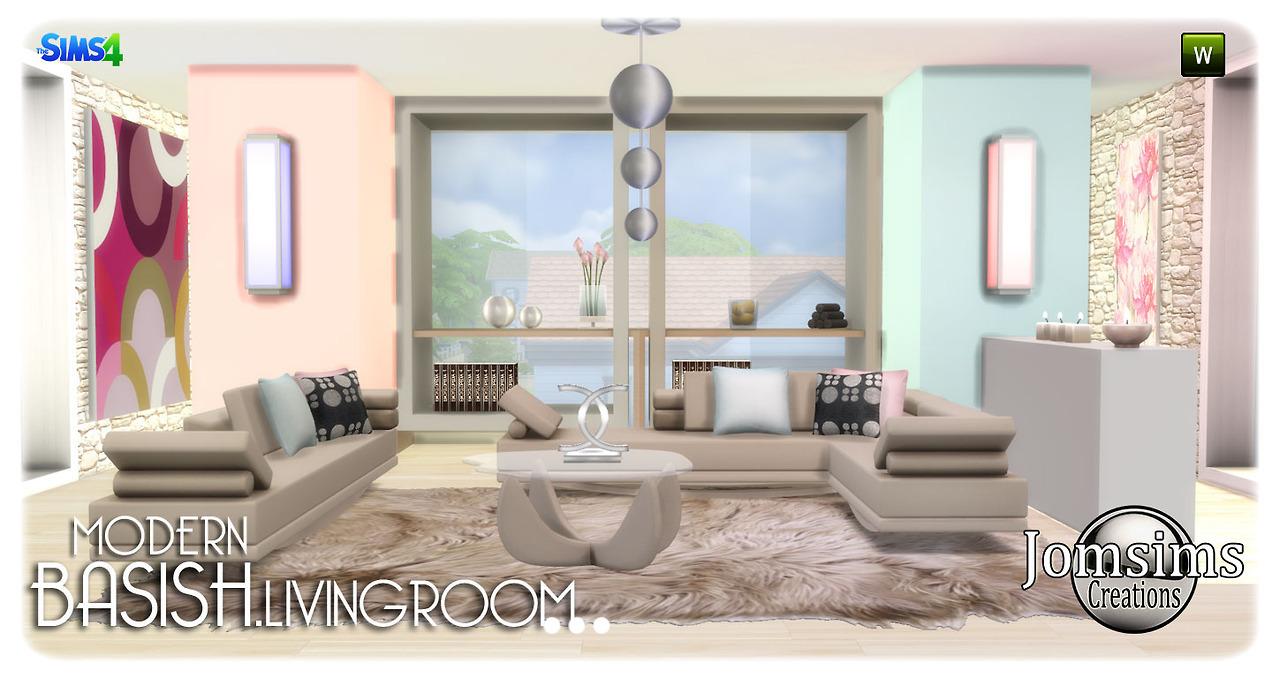 Salon Moderne Sims 4