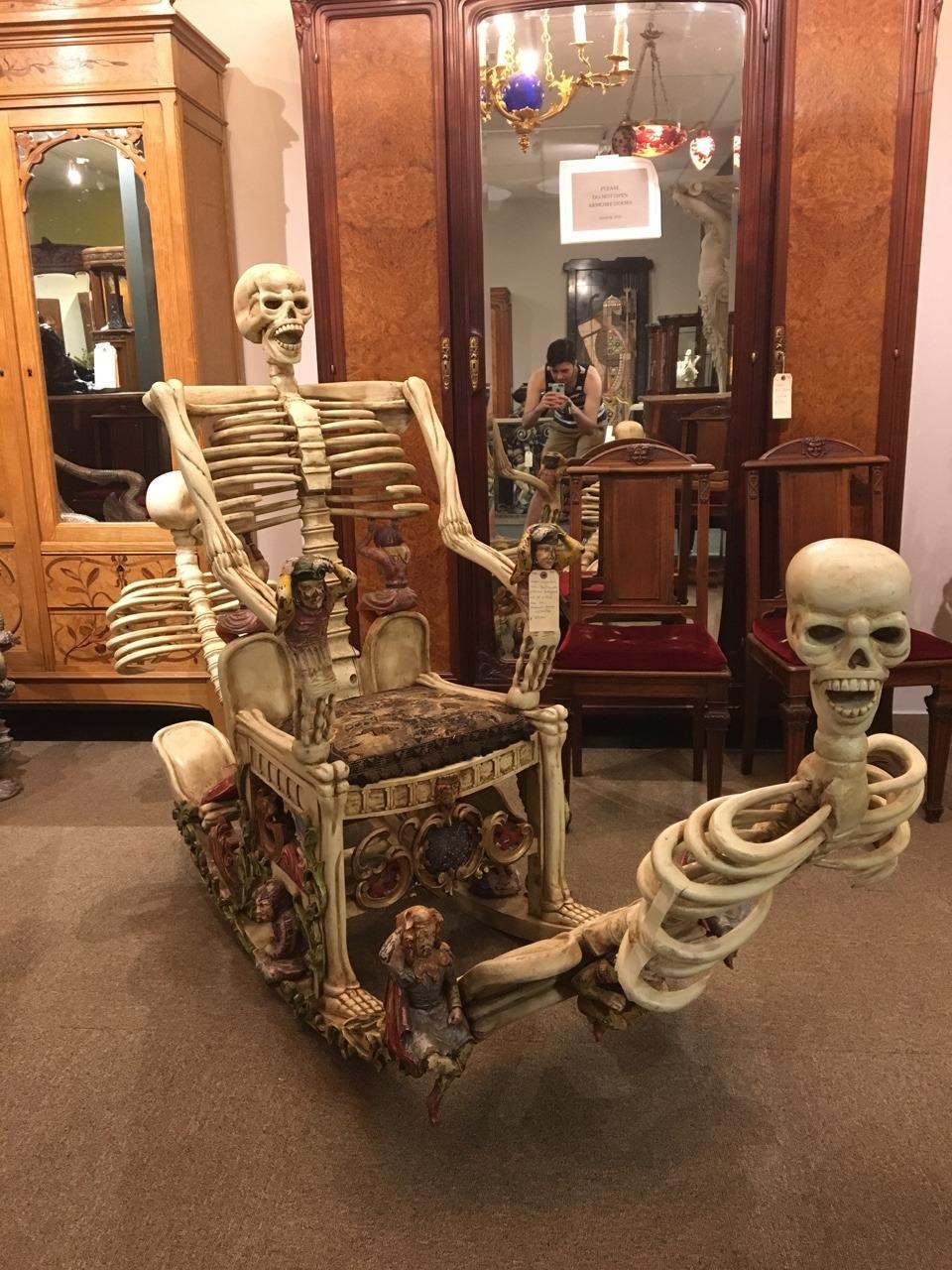 skeleton chair wake me up designer covers australia pty ltd weird antiques tumblr