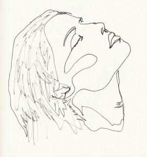 line continuous draw word drawing minimalist reblog portrait
