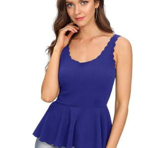 Women's Sexy V Neck Backless Camisole Scalloped Peplum Cami Top. Super cute. I am going to order... , Wed, 06  May 2020 04:49:55 +0100