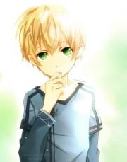 anime boy green eyes