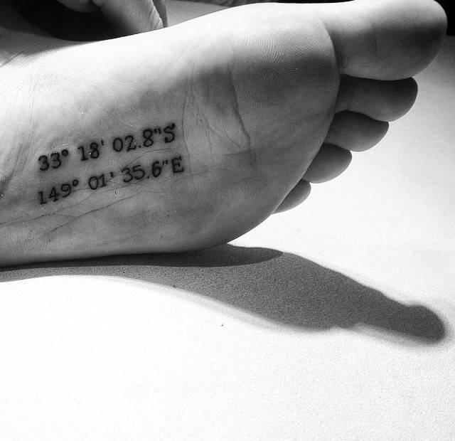 Pequeños Tatuajes Coordenadas De Un Lugar Que Siempre Llevaré En