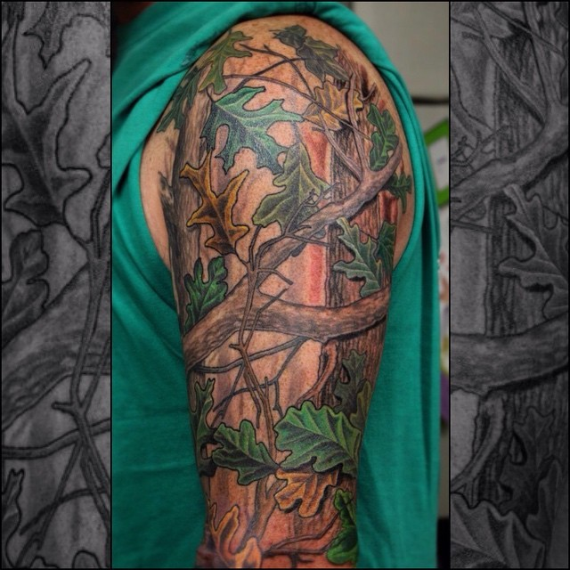 Realtree Sleeve Tattoo
