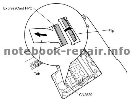 Toshiba Portege R700 Akkuhalterung / battery latch