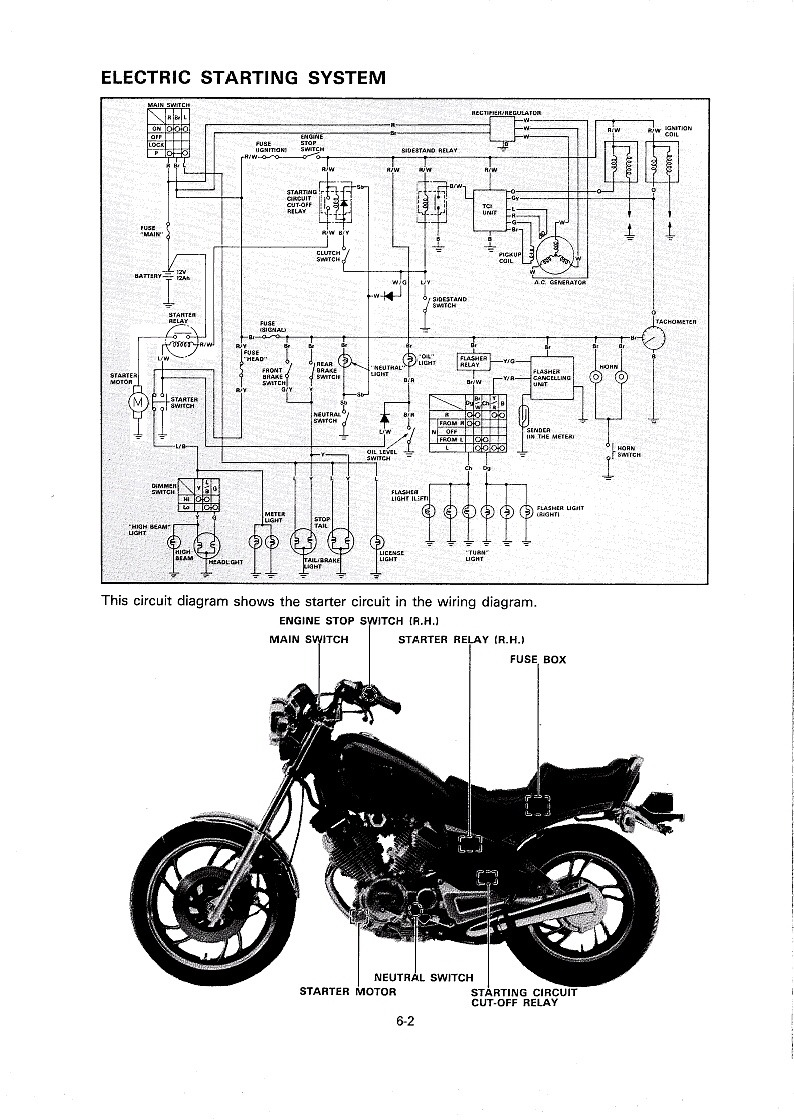 hight resolution of diagram of yamaha motorcycle parts 1989 virago 750 xv750w electrical yamaha virago 750 wiring virago 750