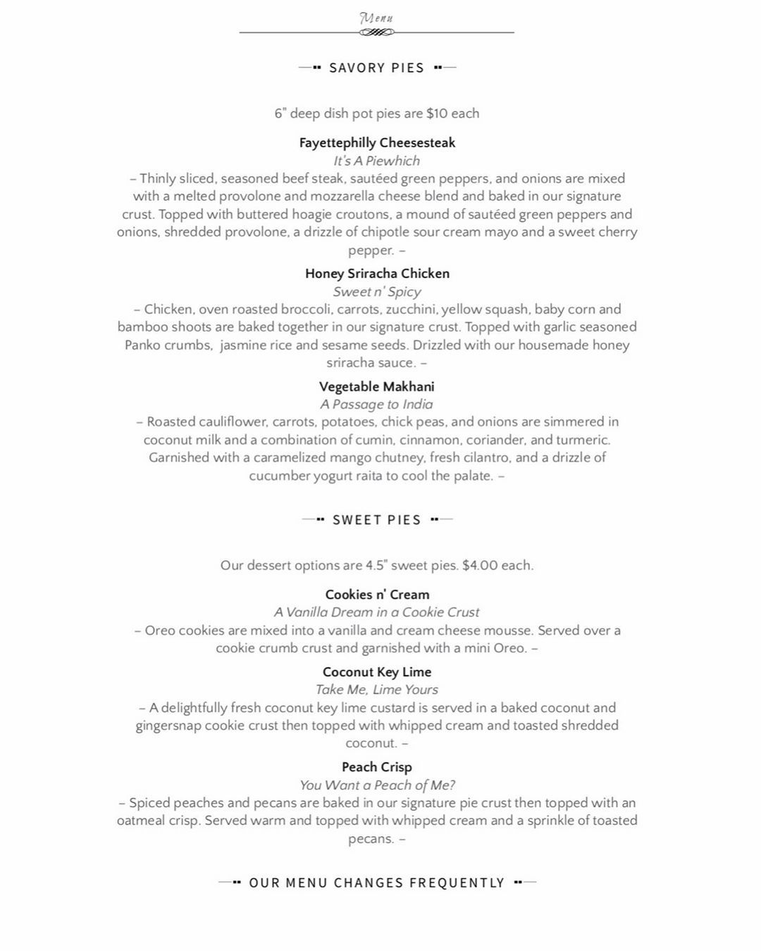 Whats Menu Lunchtime Today