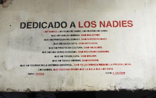 Los Nadies / texto Eduardo Galeano