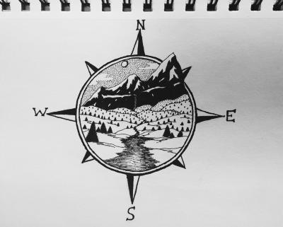 landscape drawing tumblr