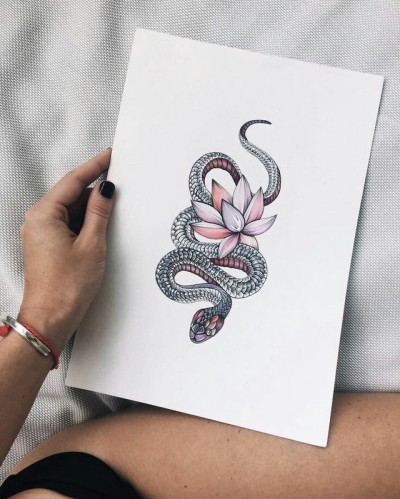 Snake Tattoo Small