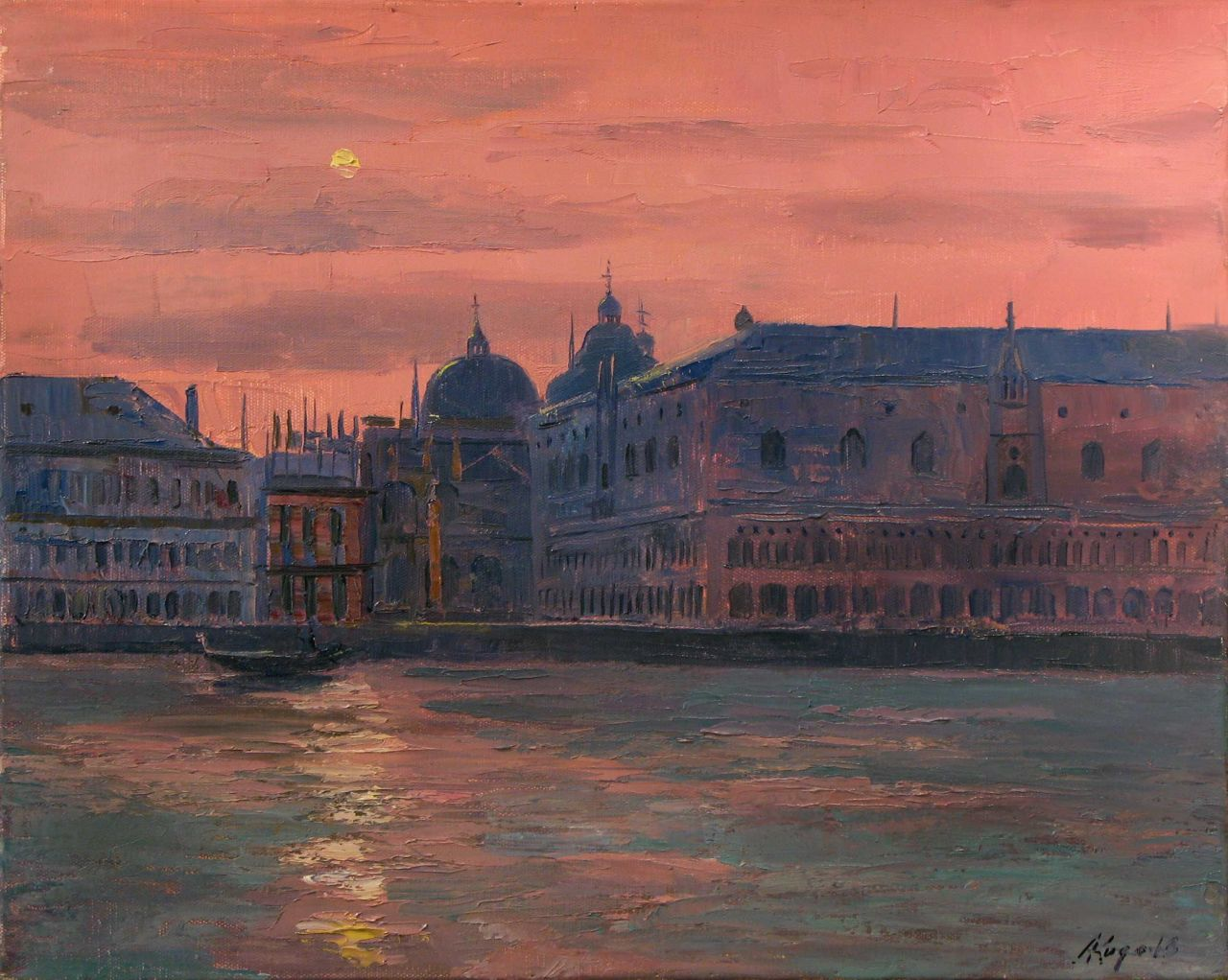 "huariqueje: "" Venice - Andrei Kugaevski Russian, b. 1958- Oil on canvas, 40 x 50 cm. """