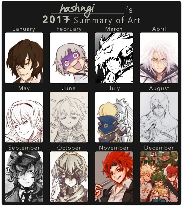 time to scale the tips — I didn't colour a lot this year. Haha XD