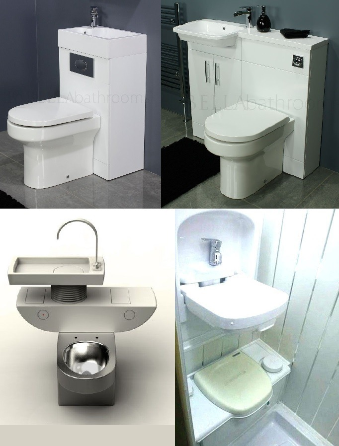 space saving items toilet sink combos