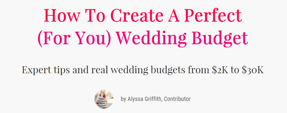 Event Planning Guide  Wedding Budget Breakdown  Check