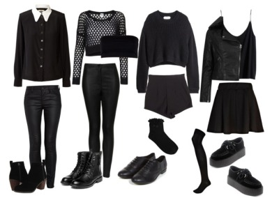 all black outfits tumblr