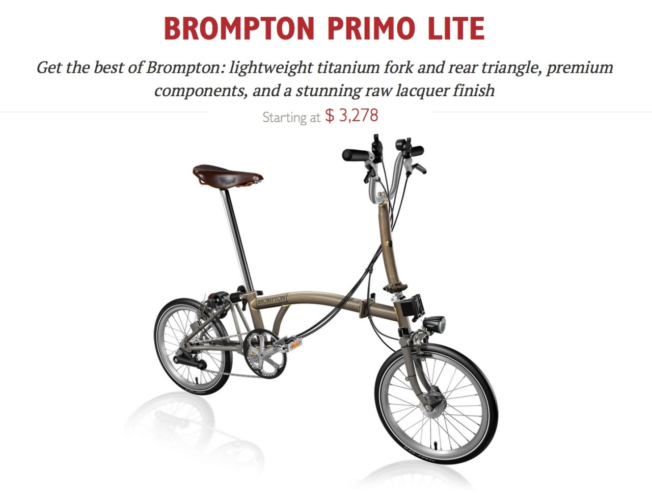 Brompton Now Available At Our Larkspur Store