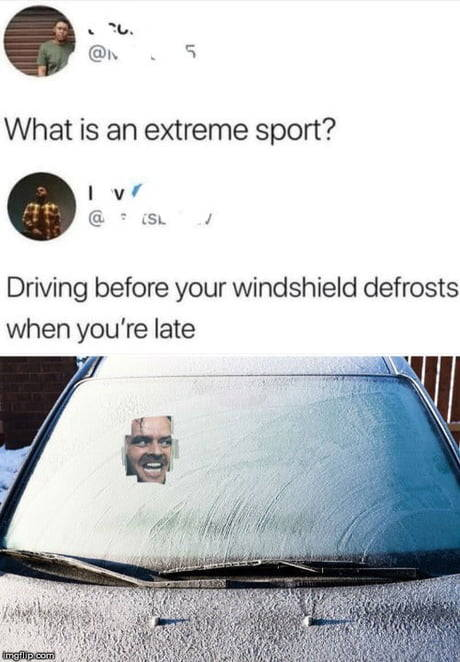 Shining - extreme - sport - driving - Funny Memes