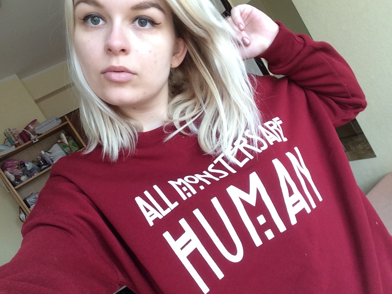 """renegade-is-in-my-blood: """"All monsters are huma sweatshirt review on my blog"""""""
