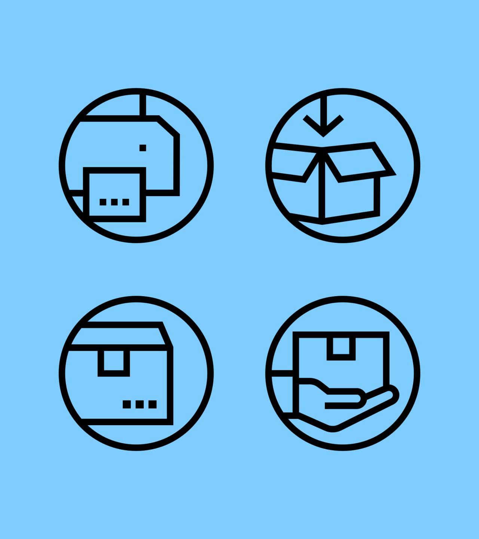 ecommerce returns process icons