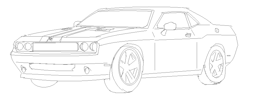Being Too Lazy., How I Draw, Example : Dodge Challenger SRT8