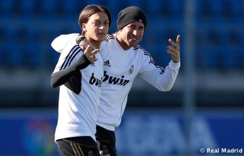 Image result for ozil and ramos friendship