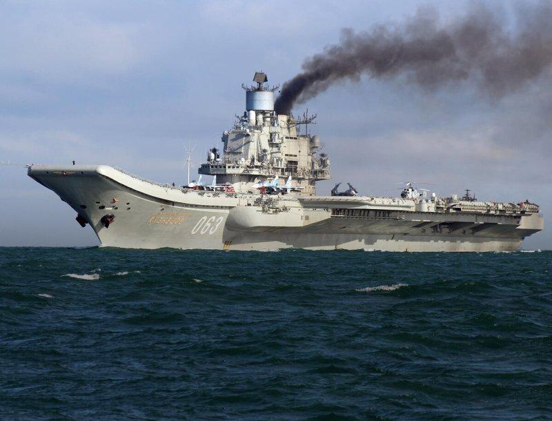 """Российский авианосец """"Адмирал Кузнецов"""" — informator.press"""