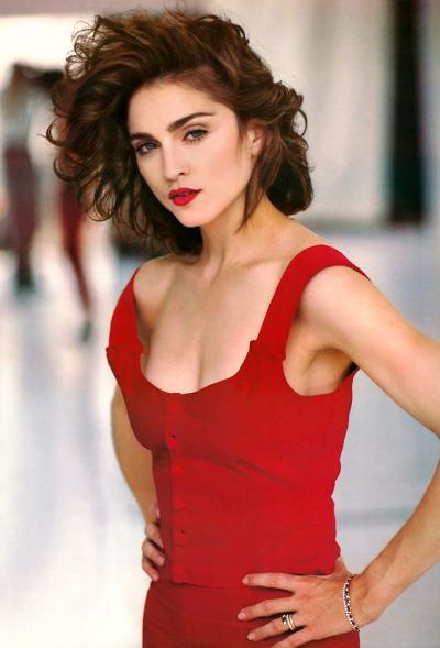 Madonna Dark Hair : madonna, Madonna, Looked, Brunette, Lipstick, Alley