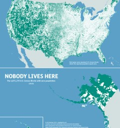 nobody lives here the nearly 5 million census blocks with zero population [ 1280 x 1484 Pixel ]