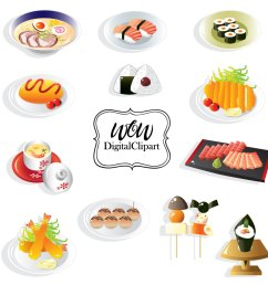 sushi set sushi clipart japanese food clip art japan restaurant japanese [ 1280 x 1280 Pixel ]