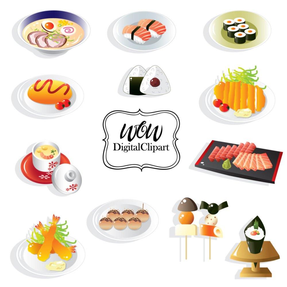 medium resolution of sushi set sushi clipart japanese food clip art japan restaurant japanese