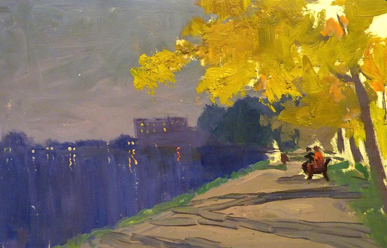 "bofransson: "" SERGEJ PANKRATOV - Autumn evening - Saint Petersburg """
