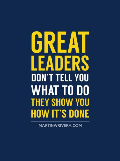 Resultado de imagen para great leaders don't tell what to do