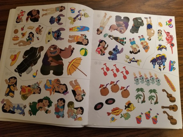 Abluestitchintime Disney Sticker Book