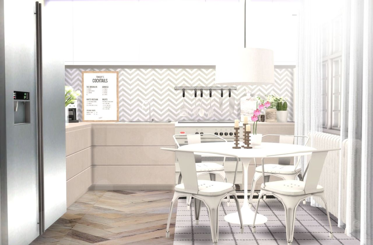 Sims 4 Kitchen Cc Simply Ruthless Newcrest Contempo Series 6