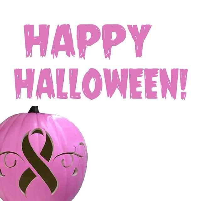 Image result for breast cancer halloween pumpkin