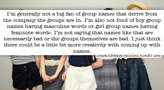 I'm generally not a big fan of group names t… – KPop Fan