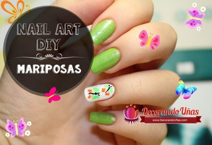 Decoración De Uñas Nails Uñas Decoradas Con Mariposas Nail Art