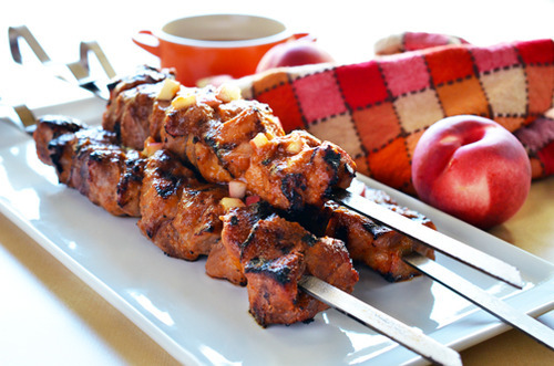 Peachy Pork-a-Bobs by Michelle Tam http://nomnompaleo.com