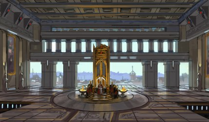 throne concept onderon wars star planet capital ornate seen