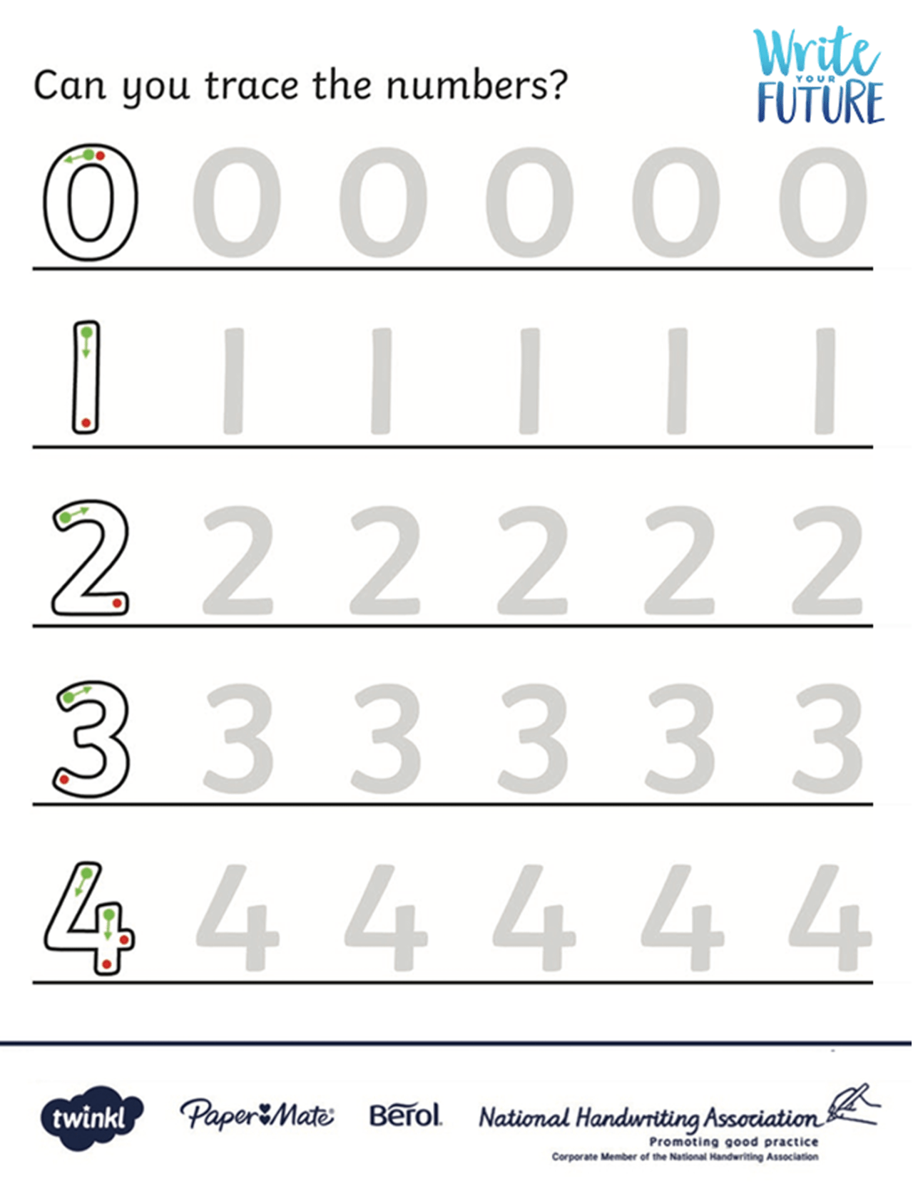 Number Formation Activity Sheet Key Stage 1 Twinkl