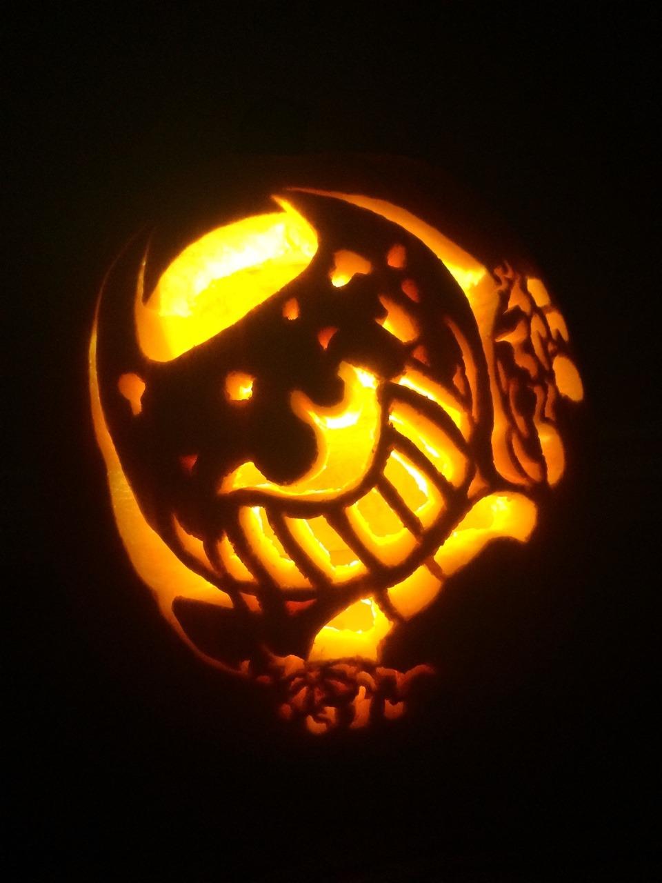 And Out Machine Bendy Cut Pumpkin Ink