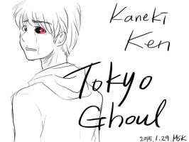Kaneki Ken. Tokyo Ghoul coloring ver. I have to...