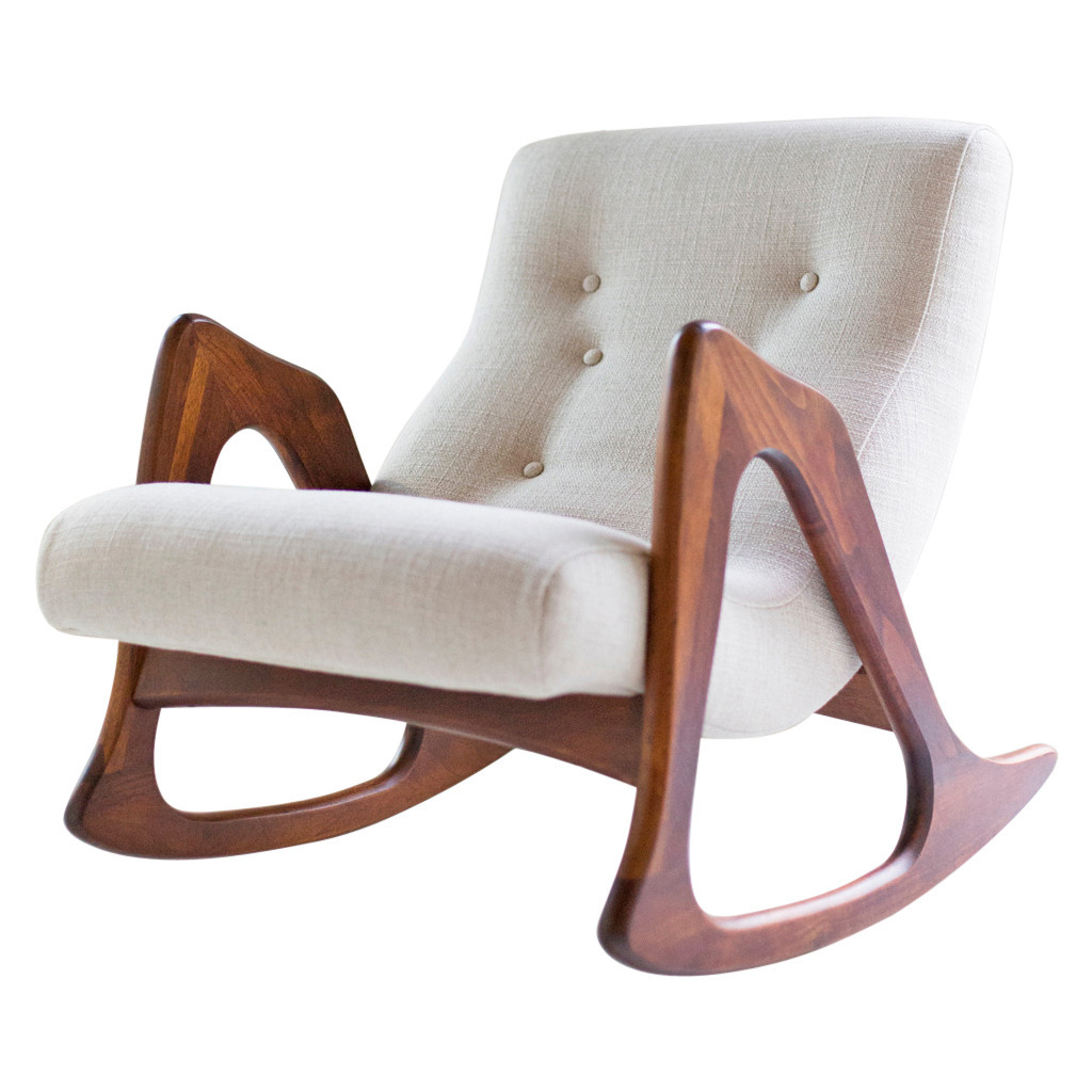 adrian pearsall chair designs stool wooden design is fine history mine rocking for craft 1960 69 walnut linen