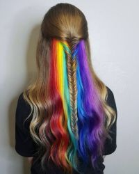 bright colored hair