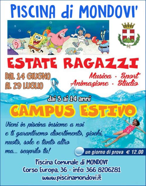 Piscina Fossano Estate Ragazzi