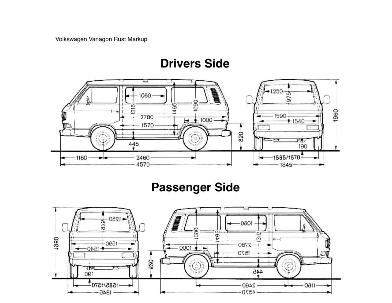 Vanagon Blog Vw Vanagon Rust Diagram