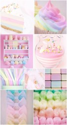 pastel iphone rainbow candy wallpapers pretty fondos aesthetic collage colors pantalla pink phone glitter unicorn backgrounds desktop purple cotton cool