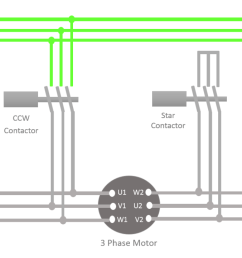 now what happens when you press the ccw start switch when the motor is rotating in the clock wise direction and also the connection is in delta  [ 1280 x 721 Pixel ]