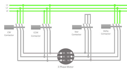 small resolution of now what happens when you press the ccw start switch when the motor is rotating in the clock wise direction and also the connection is in delta