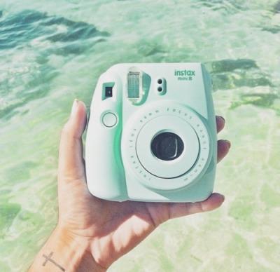 mint green polaroid tumblr